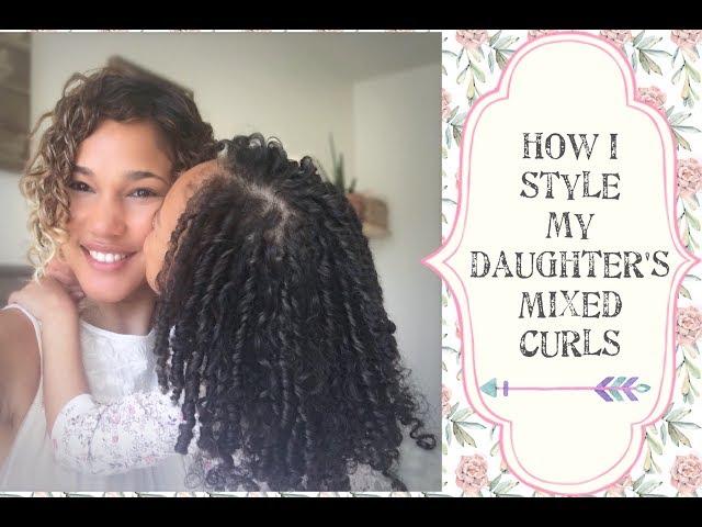 How I Style my Mixed Kid's hair - Dense Curly Hair -