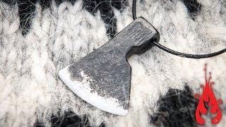 Blacksmithing - Forging an axe pendant