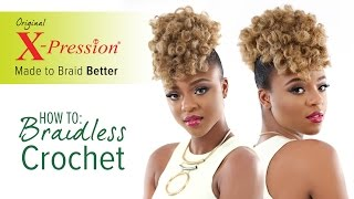 How to Curl and Braidless Crochet Braid | X-Pression Cuevana Twist