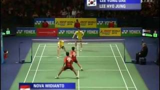 [1/8] Demi-finale MX : N. Widianto & L. Natsir vs Yong Dae Lee & Hyo Jung Lee (All England 2010)