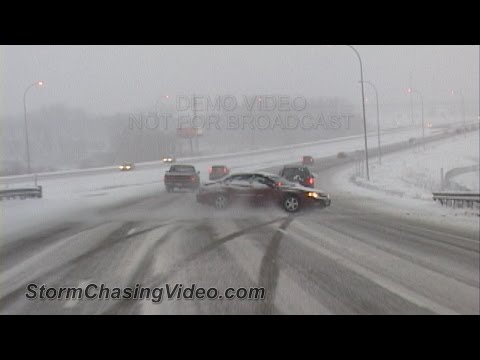 Compilation of Ridiculous Car Crash and Slip & Slide Winter Weather Part 1