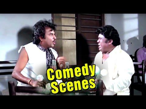 Drunked Rajnikanth | Comedy Scene | Phool Bane Angaray | Hindi Film