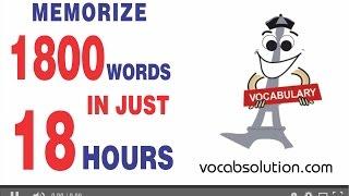 cat preparation video tutorials | Memorize 1800 Words In just 18 Hours