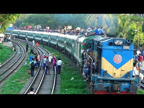 Most Deadly Train Journey in Sirajgang express of Bangladesh Railway on Eid Festive-2017