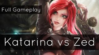 Katarina vs Zed w/ Commentary ft. Wingsofdeathx and Bunnyfufuu - Master Tier | League of Legends