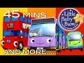 Download Video Bus Song | Different Types of Buses! | Plus More Nursery Rhymes | 45 Minutes from LittleBabyBum! 3GP MP4 FLV