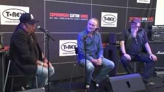 Pretty Maids og Merciful Fate: Michael Denner, Ken Hammer, Steffen Jungersen Copenhagen Guitar Show