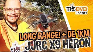 LONG RANGE E CRASH! DRONE JJRC X9 HERON CLONE DO DJI SPARK COM GIMBAL BOM E BARATO!