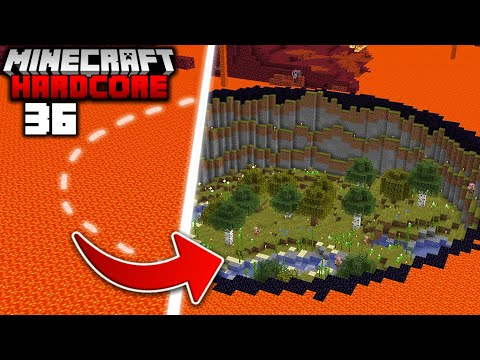 I Transformed the NETHER into the OVERWORLD in Minecraft Hardcore 36
