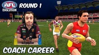 A NEW ERA - AFL Evolution: Coach Career - Round 1