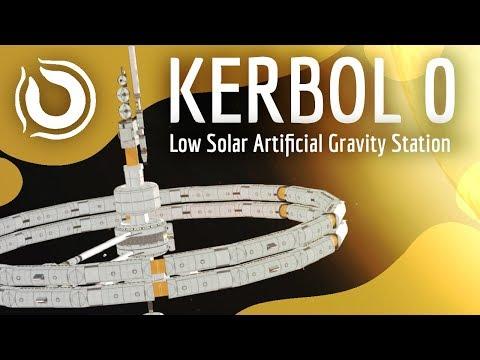 KERBOL 0 100 Stock Low Solar Artificial Gravity Station KSP 1.6