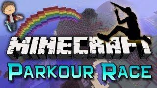 Minecraft: PARKOUR RACE! w/Mitch, Jerome & Ian!