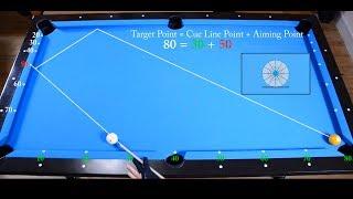 Two Rails Kick Shots Drill 1 - Aiming with Plus System - Bilyar latihan - Pool & Billiard lesson