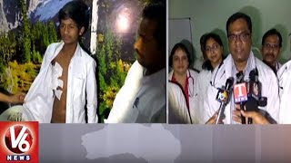 Gandhi Hospital Doctors Performs Rare Surgery To Remove Tumour | Hyderabad | V6 News