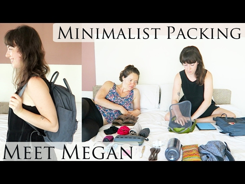 Minimalist Packs 17 Liters for 1 Month of Travel Interview & Packing with Megan