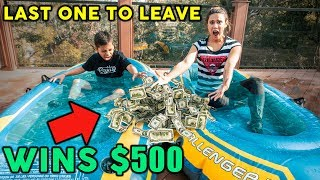 LAST To Leave ICE COLD WATER Wins $500 CHALLENGE **8 YEAR OLD VS MOM** | The Royalty Family
