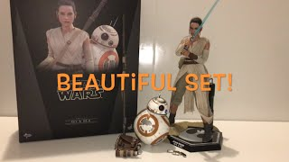Hot Toys : Rey and BB-8 : Star Wars The Force Awakens : Unboxing & Playtime!