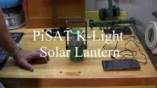 PiSAT K-Light Solar Lantern