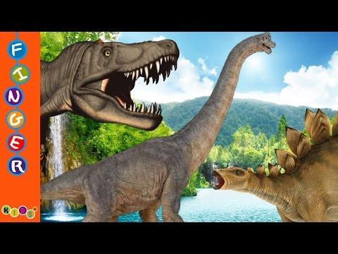 3D Dinosaur Finger Family Nursery Rhymes By KidsW