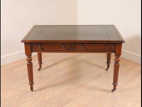 Mahogany William IV Writing Table Des