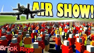 BOB and BOB's AIRSHOW GONE WRONG! [NEW AIRPORT] - Brick Rigs Multiplayer Gameplay Ep14