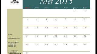 cara membuat kalender sendiri dengan mudah
