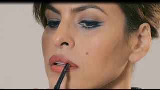 Tutorial: Eva Mendes' Cat Eye & Bold Lip