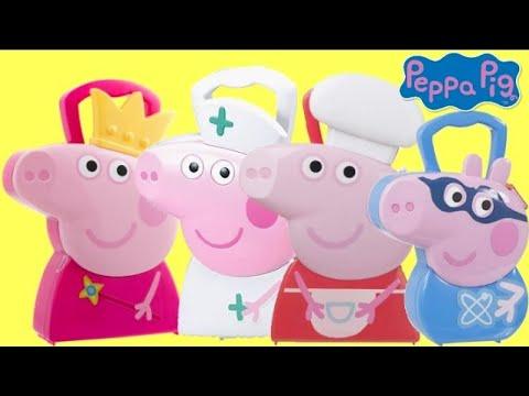 Xxx Mp4 PEPPA Amp GEORGE PIG Carry Cases With Nurse Medic Chef Princess Amp Superhero 3gp Sex