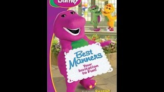 Closing to Barney's Best Manners: Your Invitation to Fun! 2003 VHS