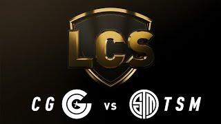 CG vs. TSM - Week 9 Day 1 | LCS Spring Split | Clutch Gaming vs. TSM (2019)