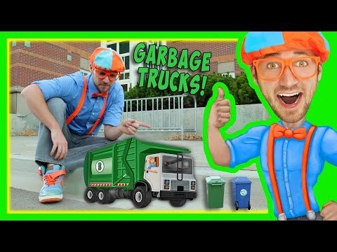 Garbage Trucks For Kids With Blippi Educational Toy Videos For Children
