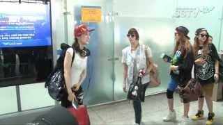 [SSTV] 티아라엔포 미국 출국, 개성 넘치는 공항패션