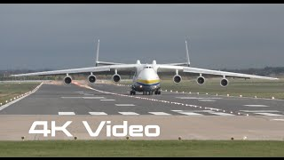 Antonov An225 Mriya landing in  England 4K video Антонов Ан-225 Мрия посадка в Англии