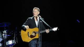 Bryan Adams - introducing a song request - Here I Am - Budapest 09/10/2016