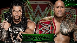 Roman Reigns vs The Rock for championship