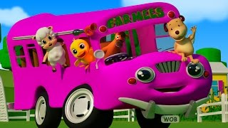 Wheels On The Bus Go Round And Round | Nursery Rhyme And Kids Songs