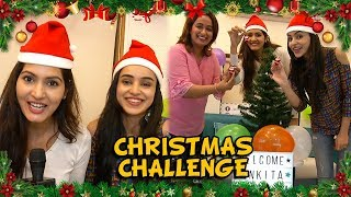 Sangeita Chauhaan And Ankita Sharma CHRISTMAS CHALLENGE With Telly Masala | Christmas Special