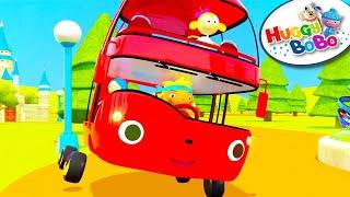 Wheels On The Bus 🎈 Episode 1 🎈Nursery Rhymes 🎈 By HuggyBoBo 👀