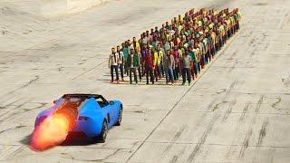 GTA 5 - CAN 100+ NPCs STOP THE VOLTIC ROCKET CAR?