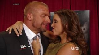 WWE Raw 07 14 14 Stephanie Triple H Backstage Kiss