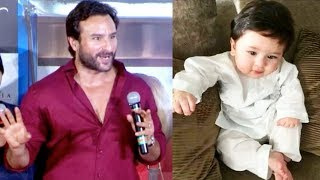 Saif Ali Khan Talks About CUTE Taimur Ali Khan And How He Spends Time With Him