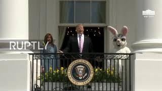 USA: Donald and Melania Trump host White House Easter Egg Roll