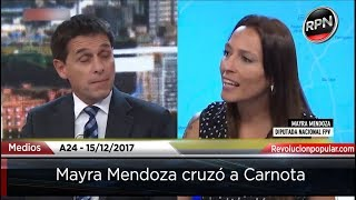 Mayra Mendoza dejó pedaleando en el aire a los periodistas de A24