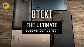 Xperia XZ vs iPhone 7 Plus, P9 Plus, HTC 10 speaker comparison