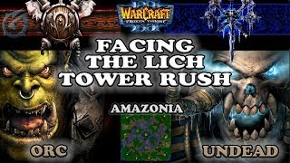 Grubby | Warcraft 3 The Frozen Throne | ORC v UD - Facing the Lich Tower Rush - Amazonia