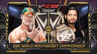 WWE RAW 1/4/16 - John Cena vs Roman Reigns - WWE World Heavyweight Championship Match
