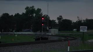 Flashing Green over Red signal @ Brookield Sub @ Galesburg, ILyard 8/2016