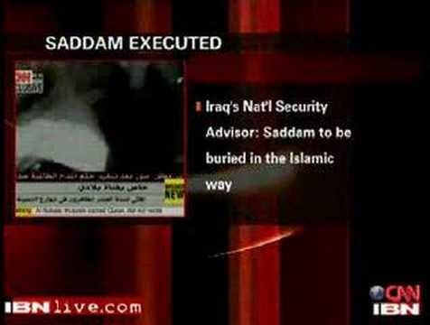 Saddam Hussein Execution Video