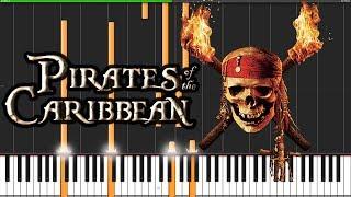 Pirates of the Caribbean Medley [Piano Tutorial] (Synthesia) // David Kaylor