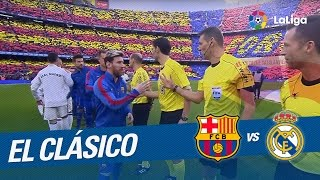 Entrada al campo del FC Barcelona vs Real Madrid